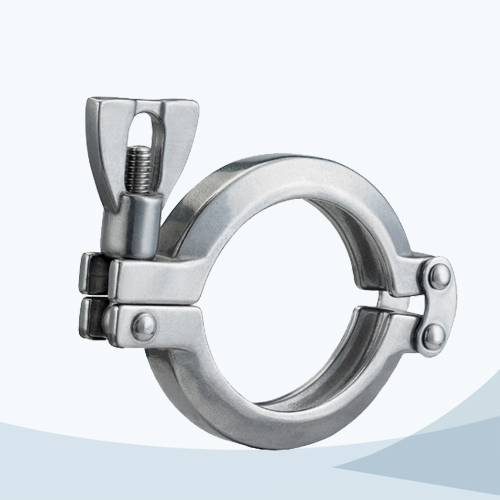 stainless steel sanitary grade 13MHHM-DP heavy duty double pin clamp