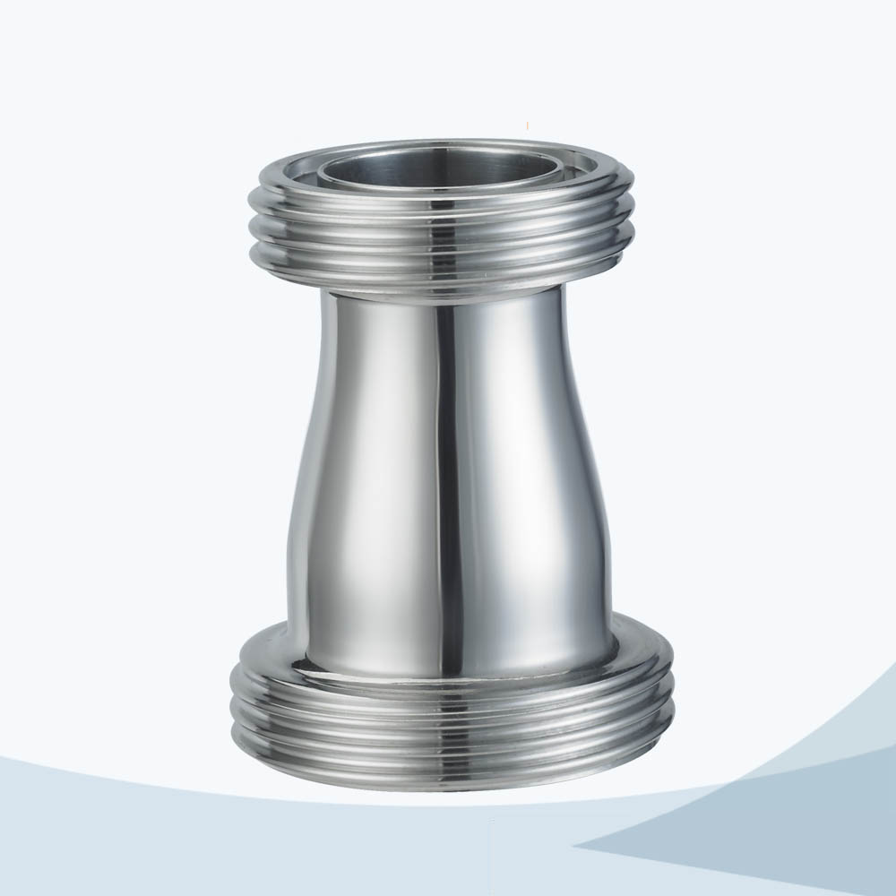 stainless steel food processing male threading concentric reducer
