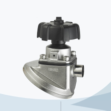 stainless steel hygienic grade manual type tank bottom diaphragm valve