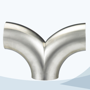 stainless steel food grade double-bend type Swept tee