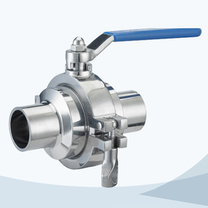 stainless steel hygienic grade welded manual type non retention ball valve