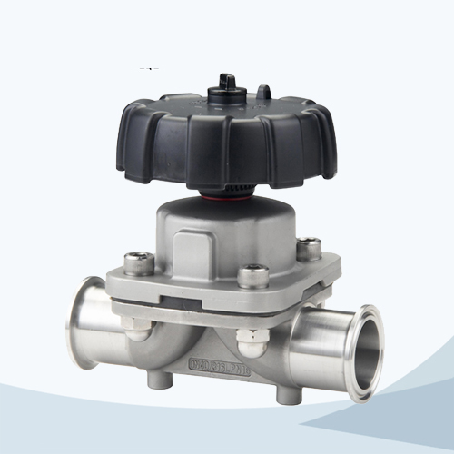 stainless steel hygienic grade manual type clamped casting diaphragm valve