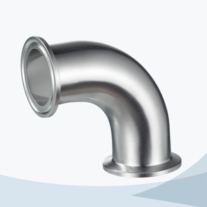 stainless steel food processing 2CMP tri-clamp 90d elbow pipe fitting