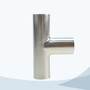 stainless steel hygienic grade 7W butt weld equal tee