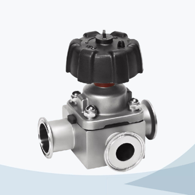 stainless steel food grade manual T type clamped forging diaphragm valve