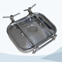 stainless steel sanitary square manway cover
