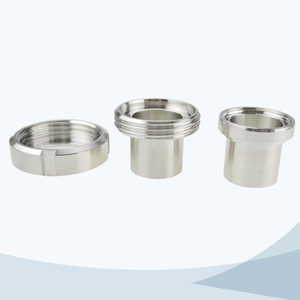 stainless steel food grade aseptic screwed union