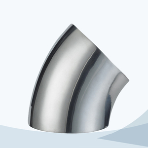 stainless steel hygienic grade butt weld short 45D bend