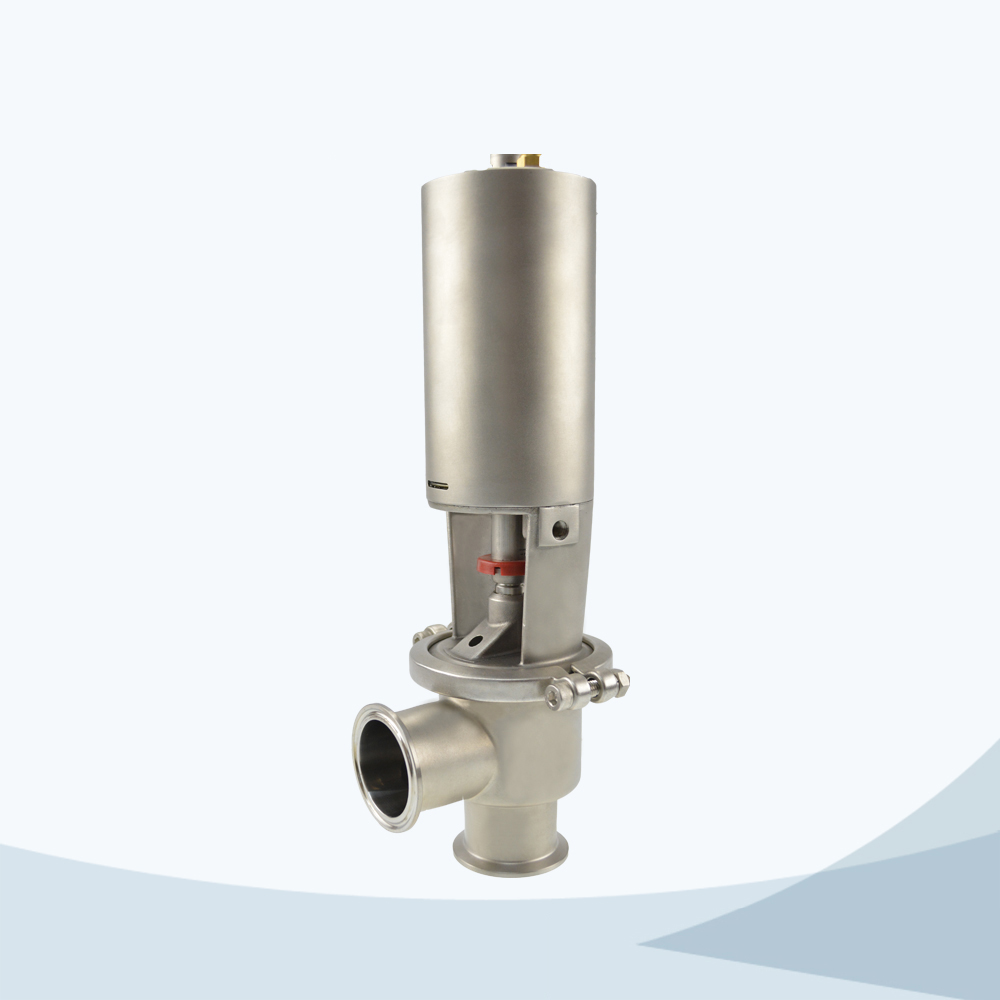 stainless steel pneumatic food processing cut-off valve