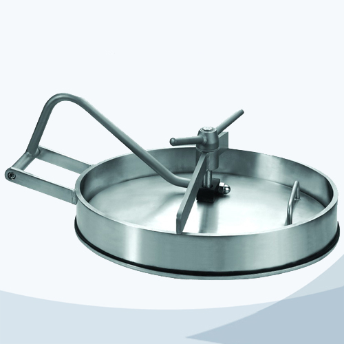 stainless steel hygienic grade oval inward manhole cover