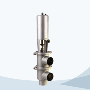 stainless steel food processing pneumatic line type divert valve