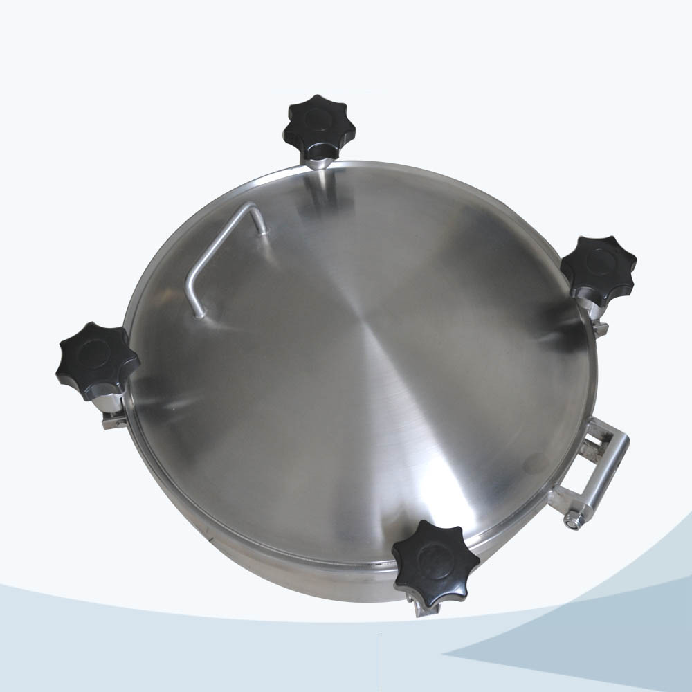 stainless steel food grade round pressure manhole