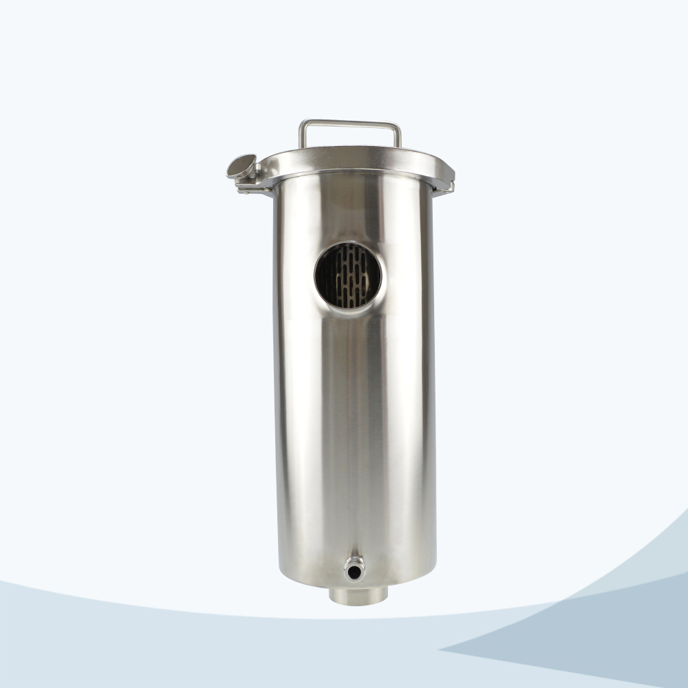 stainless steel food processing welded angle type filter