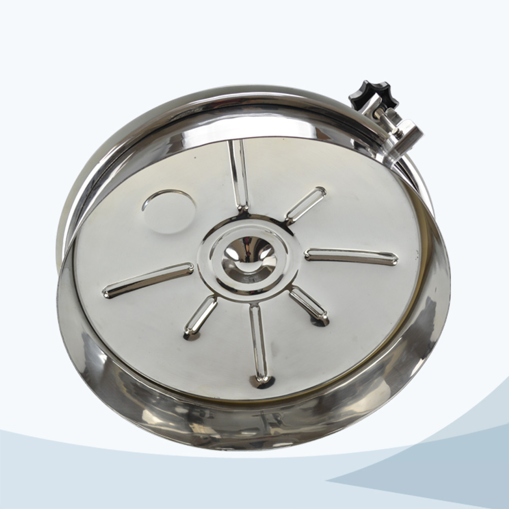 stainless steel sanitary round non pressure manhole cover