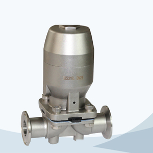 stainless steel sanitary pneumatic tri-clamped diaphragm valve with mini actuator