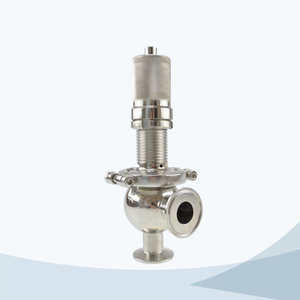 stainless steel hygienic grade ball type manual pressure relief valve