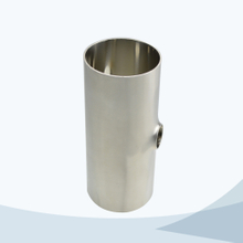 stainless steel food equipment butt weld reducing short tee