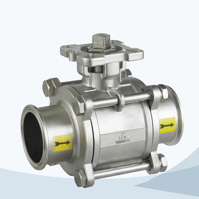 stainless steel hygienic grade 3 way threaded ball valve