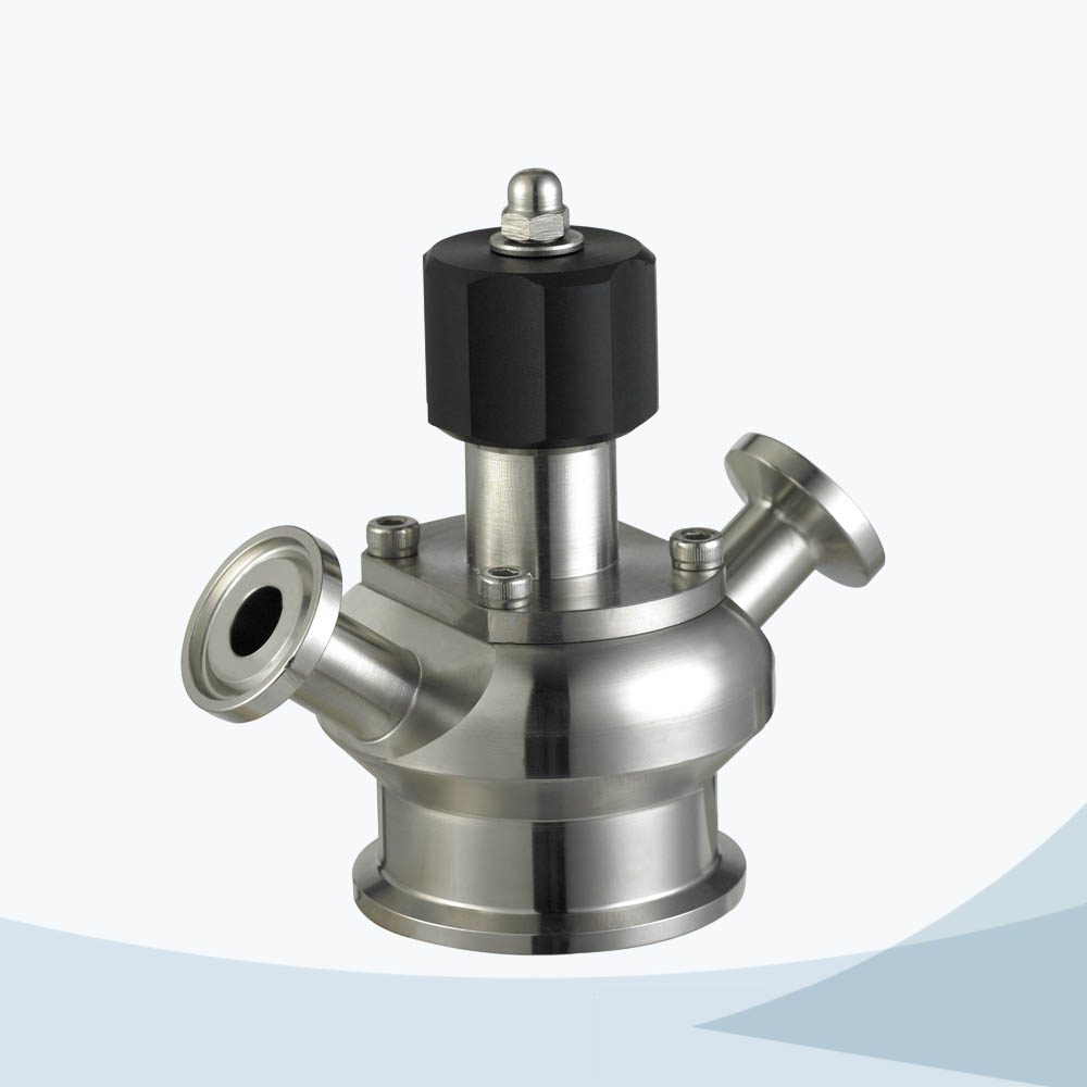 stainless steel sanitary grade diaphragm sampling valve