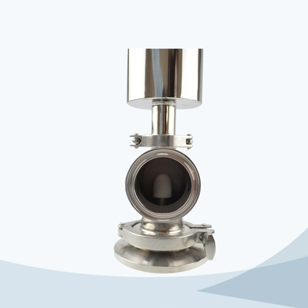 stainless steel sanitary grade pneumatic bending type tank bottom valve