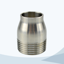stainless steel food grade reducing welded threading nipple