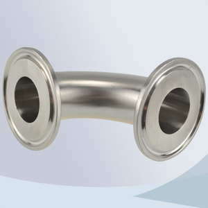 stainless steel food processing tri-clamp 90d bend