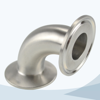 stainless steel hygienic 2CMP tri-clamped 90D elbow