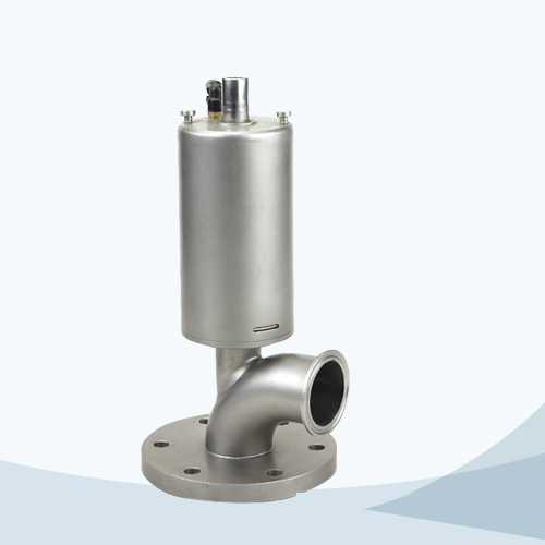 stainless steel hygienic grade pneumatic bending type tank bottom valve