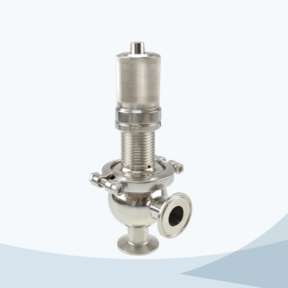 stainless steel food processing line type pressure relief valve