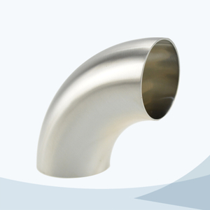 stainless steel sanitary grade butt weld short 90D elbow
