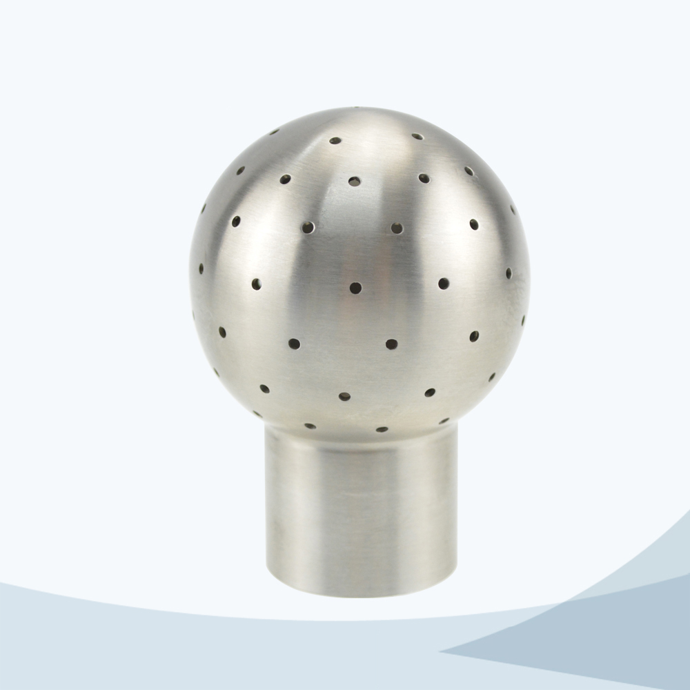 Sanitary pin connection fixed cleaning ball
