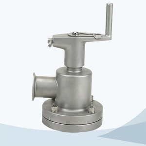 stainless steel food equipment manual type tank bottom seat valve