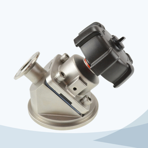 stainless steel food processing clamped manual type tank bottom diaphragm valve