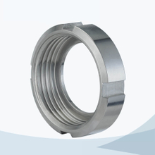 stainless steel sanitary SMS round nut with 6 slots
