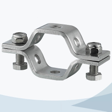 stainless steel sanitary grade heavy duty hex pipe support