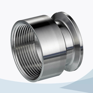 stainless steel hygienic grade 22MP triclover NPT adaptor