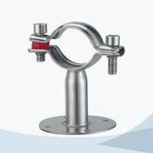 stainless steel sanitary grade round pipe clamp with base plate