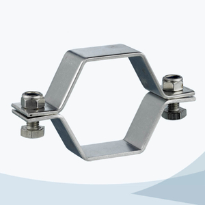 stainless steel food grade hex pipe support without pipe