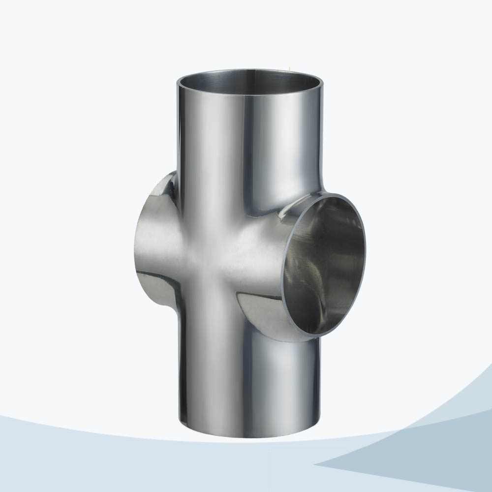 stainless steel hygienic grade welded short cross